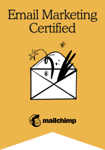 Mailchimp Academy Email Marketing Certification Badge